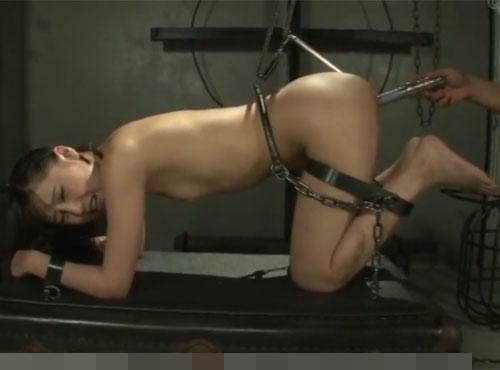 セレブ妻が鉄拘束アナル拷問で痙攣イキする穴ル拡張 無料動画